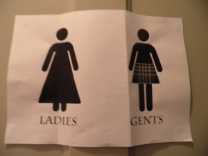 Scottish church restroom sign
