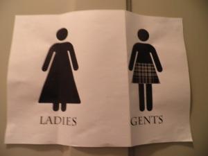 Scottish church restroom sign