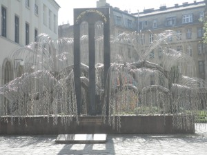 Weeping willow memorial sculpture