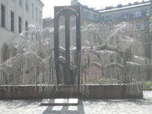 Weeping willow memorial sculpture